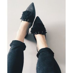 a new day Antoinette Pointed Tassel Mules Flats